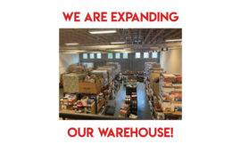 We are expanding our warehouse!